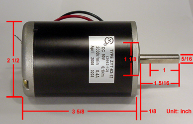 Heavy Duty 90v Dc Motor For 36w 2000rpm For Hobby And