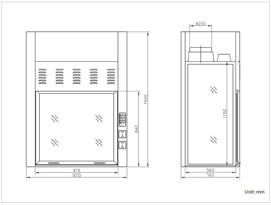 Bench Top Fume Hood With Explosion Proof Blower Amp Lamp