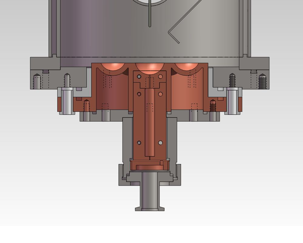 Compact Vacuum Arc Melting System With 7 Cavities