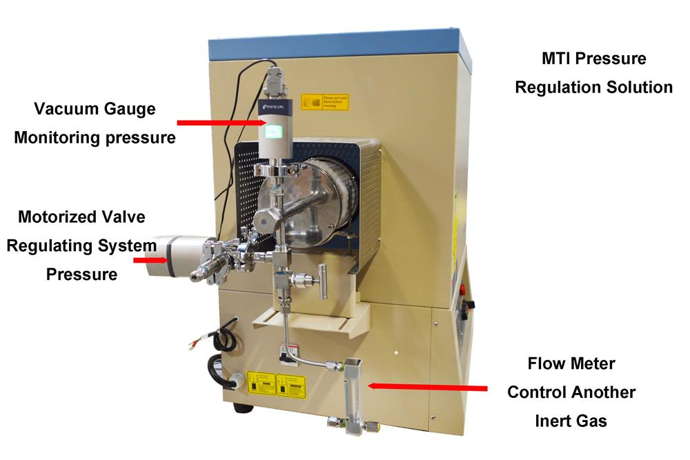 Precision vacuum pressure regulating system with motorized