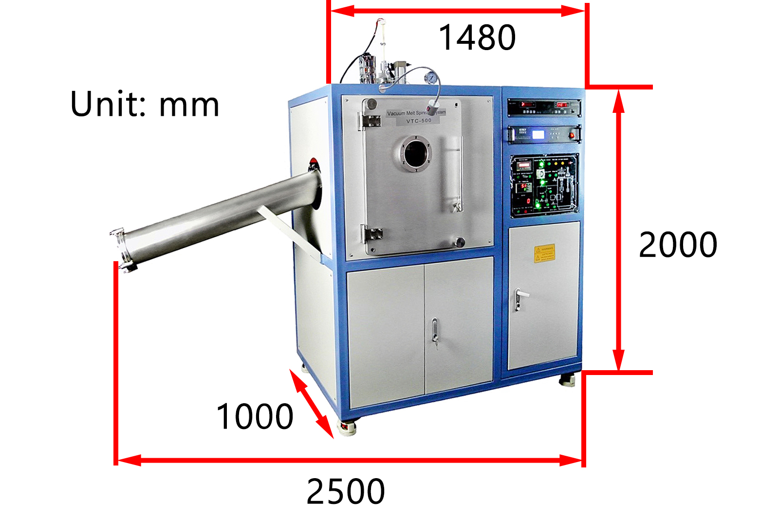 Vacuum Melt Spinning System With Precision Temperature And