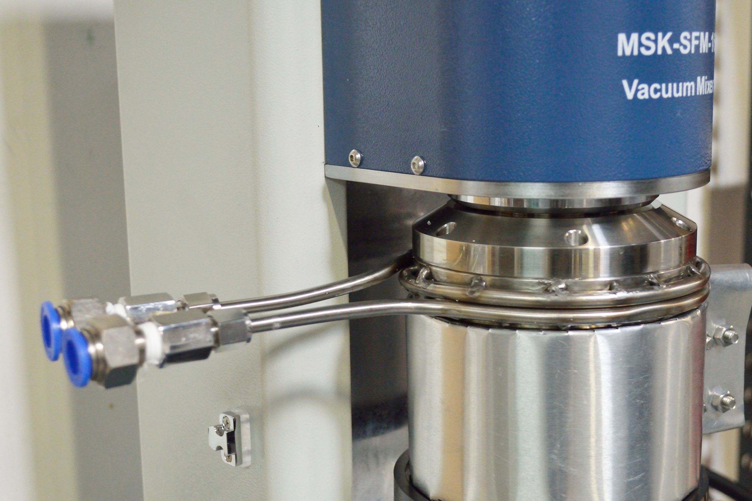 Compact Dual-Shaft Planetary Vacuum Mixer with a 150 mL