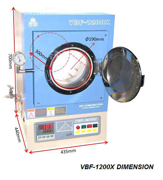 UL-Standard 1100°C 7 6 Liter Hi-Vacuum Chamber Furnace (UL/CSA ready