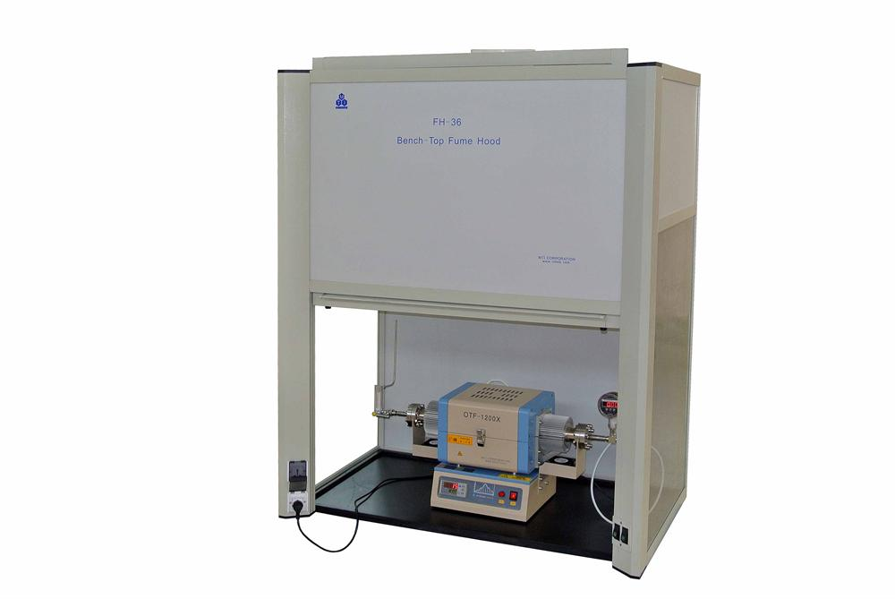 fume hood with tube furnace 2