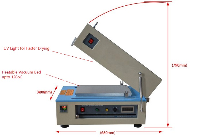 Automatic Film Coater with Cover Heater, Vacuum Pump