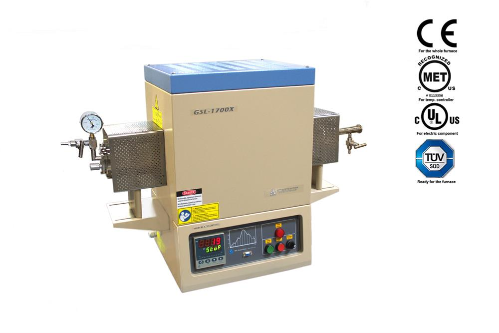 1700C max  Compact Vacuum Tube Furnace (60mm OD) - GSL