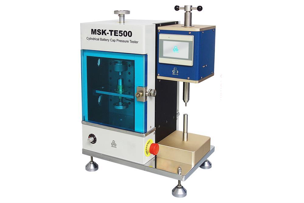 Cylindrical Battery Cap Pressure & Leak Tester - MSK-TE500