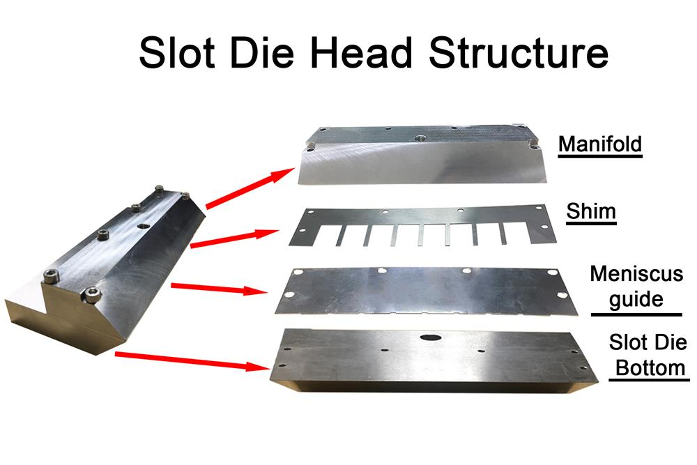 Compact Slot Die Heads with Optional 10, 50 & 100 mm Widths