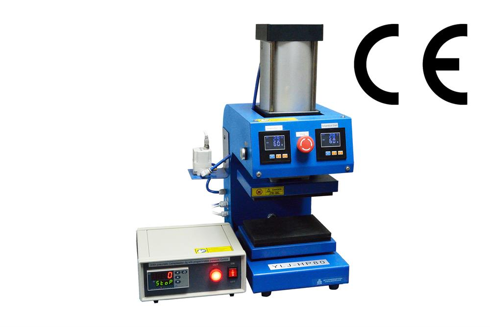 1000 Kg Pneumatic Heated Lab Press with Precision