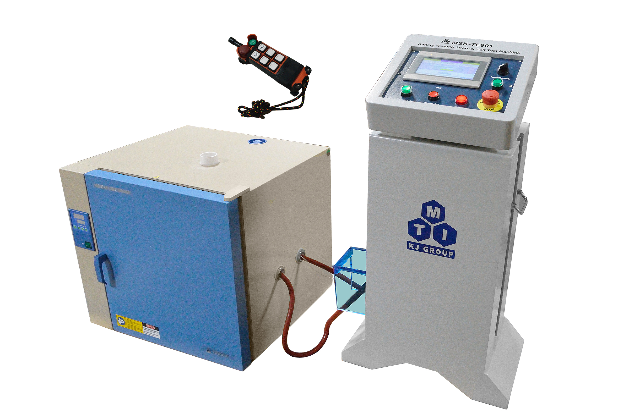 short circuit testing console for rechargeable batteries up to 200amodified from bpg 7082 with two cable inlet and vent releasing port